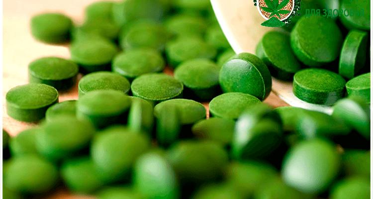 таблетки водоросли